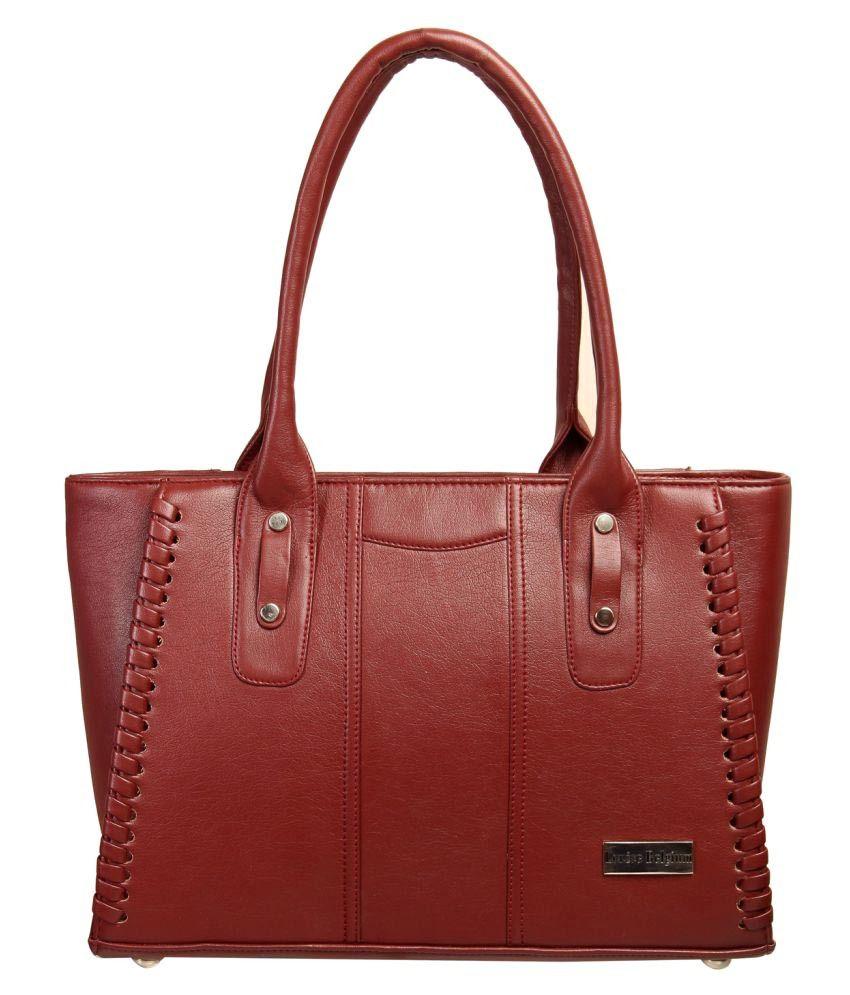 Louise Belgium Maroon Artificial Leather Shoulder Bag