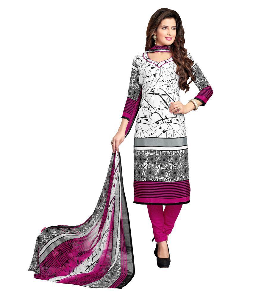 1a60f91de Designer Salwar Suits Multicoloured Crepe Dress Material - Buy Designer  Salwar Suits Multicoloured Crepe Dress Material Online at Best Prices in  India on ...