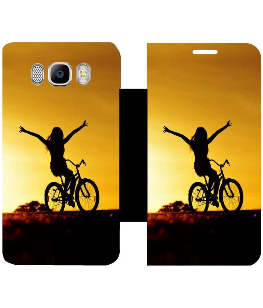 Samsung Galaxy J7 (2016) Flip Cover by Skintice - Yellow