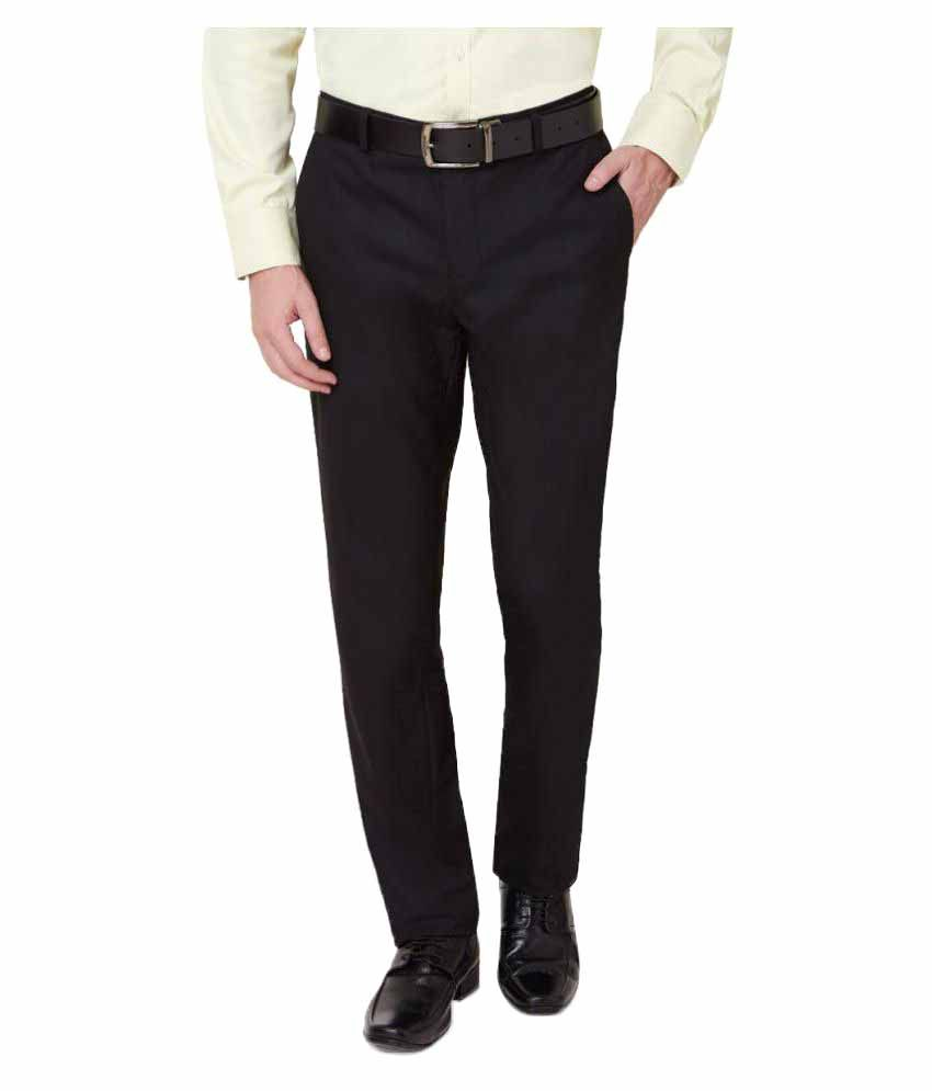 Ovation Black Slim Flat Trouser