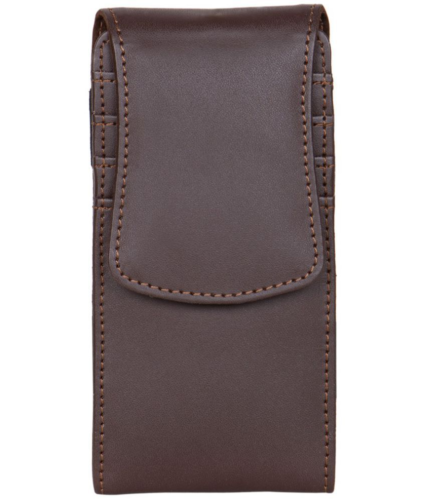 Micromax Bolt A092 Holster Cover by Senzoni - Brown