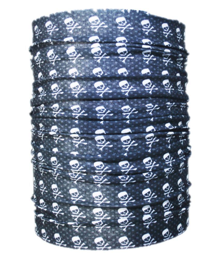 Korni Blue Printed Nylon Headwraps
