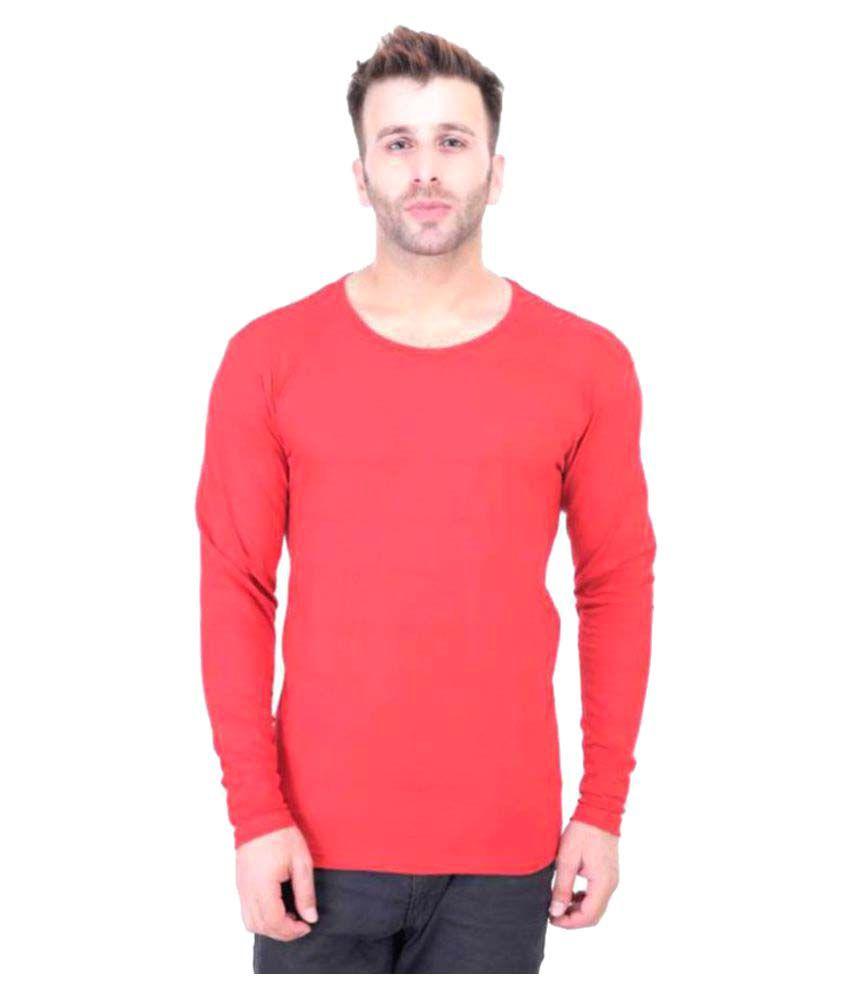 Bi Fashion Red Henley T-Shirt