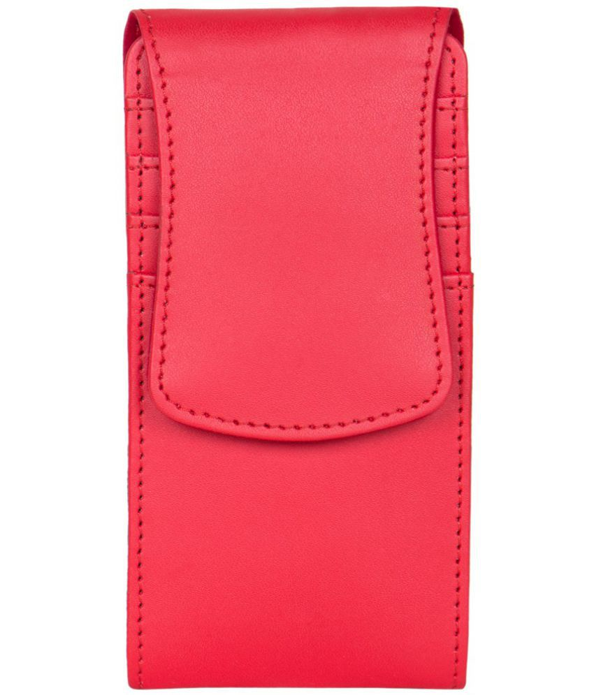 Micromax A110Q Holster Cover by Senzoni - Red