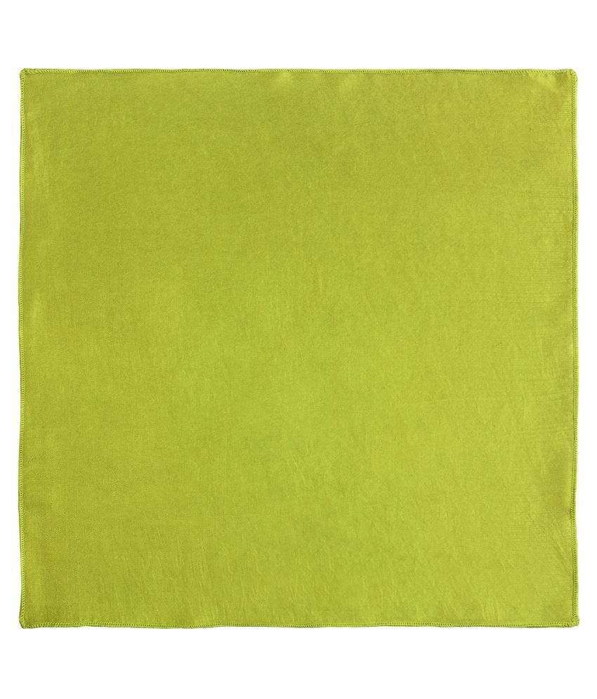 Chokore Lime Green Pure Silk Pocket Square - Pack of 1