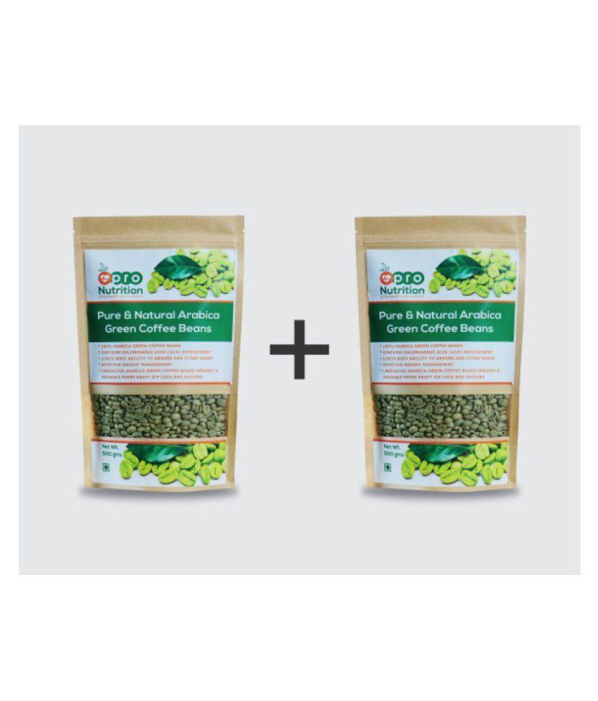 Pro Nutrition Pure Natural Green Coffee Beans 1000 Gm Bean Original