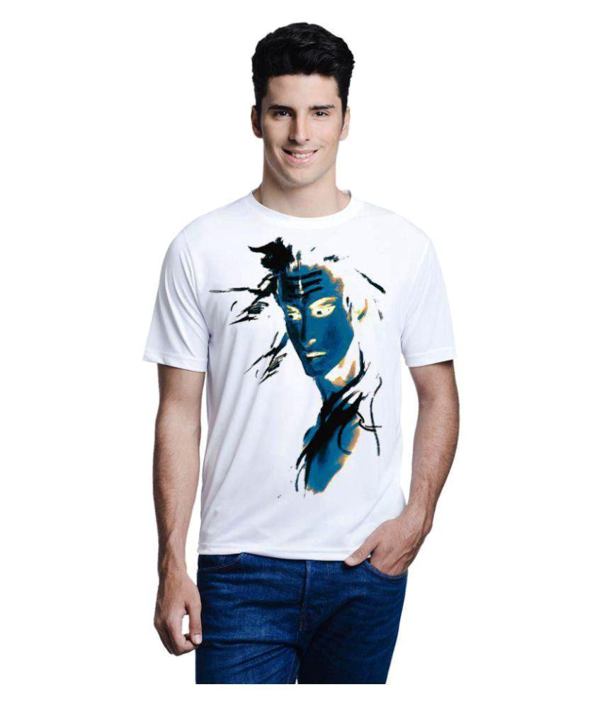 Lime White Lord Shiva Mahadev Mahakaal Bholenath T-Shirt