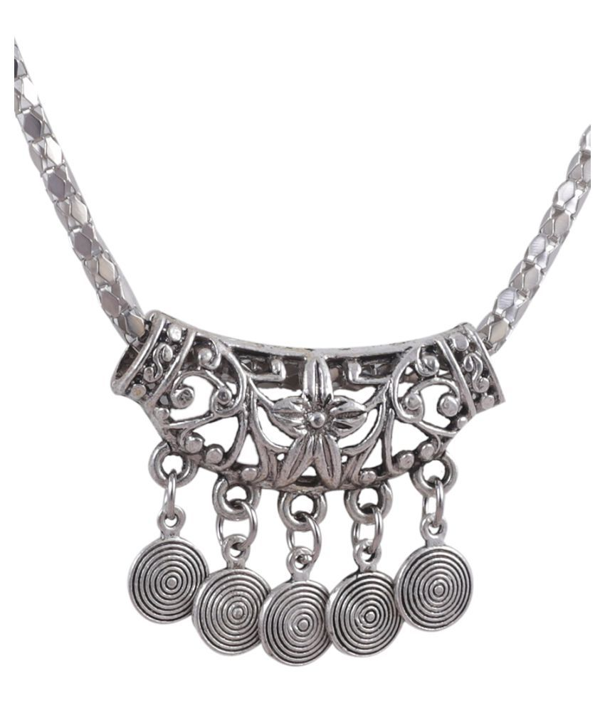 Jewelizer Silver Necklace