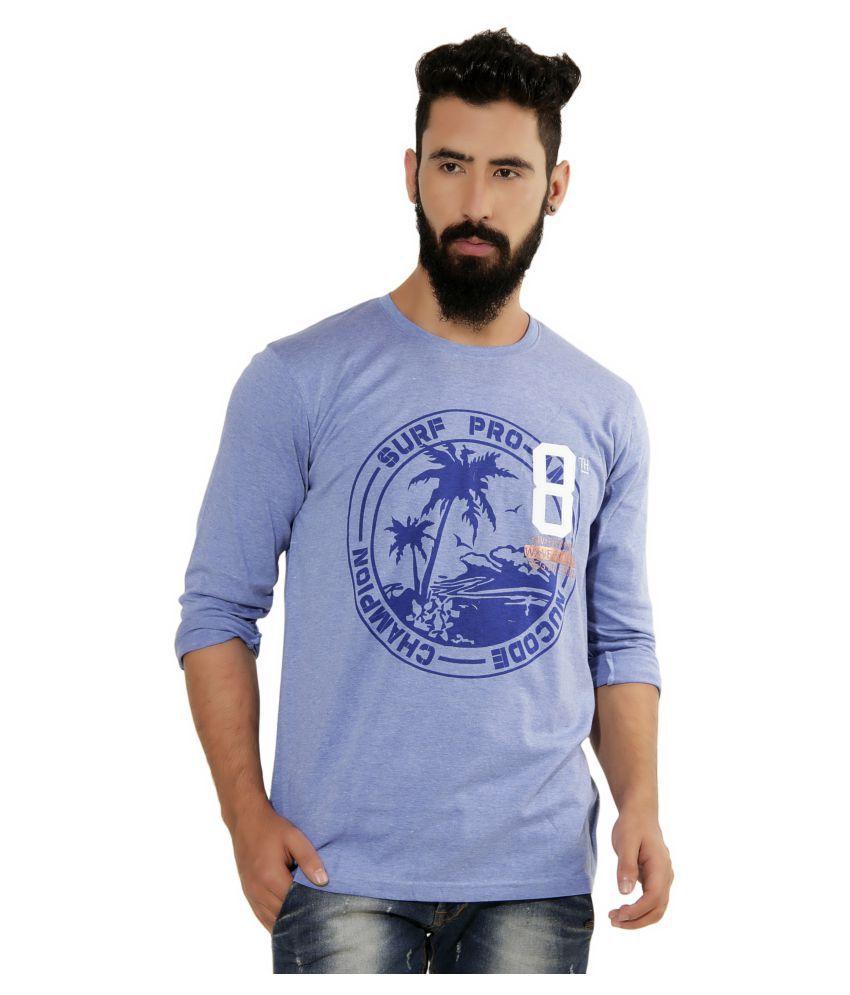 Nucode Blue Round T-Shirt