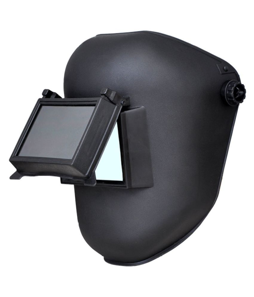 f8c75f5a Buy Karam Black Welding Safety Helmet Online at Low Price in India -  Snapdeal