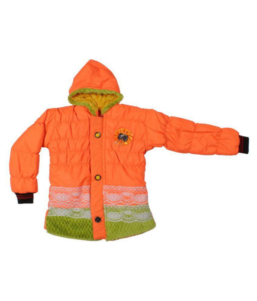Greentree Orange Wollen Light Weight Jackets