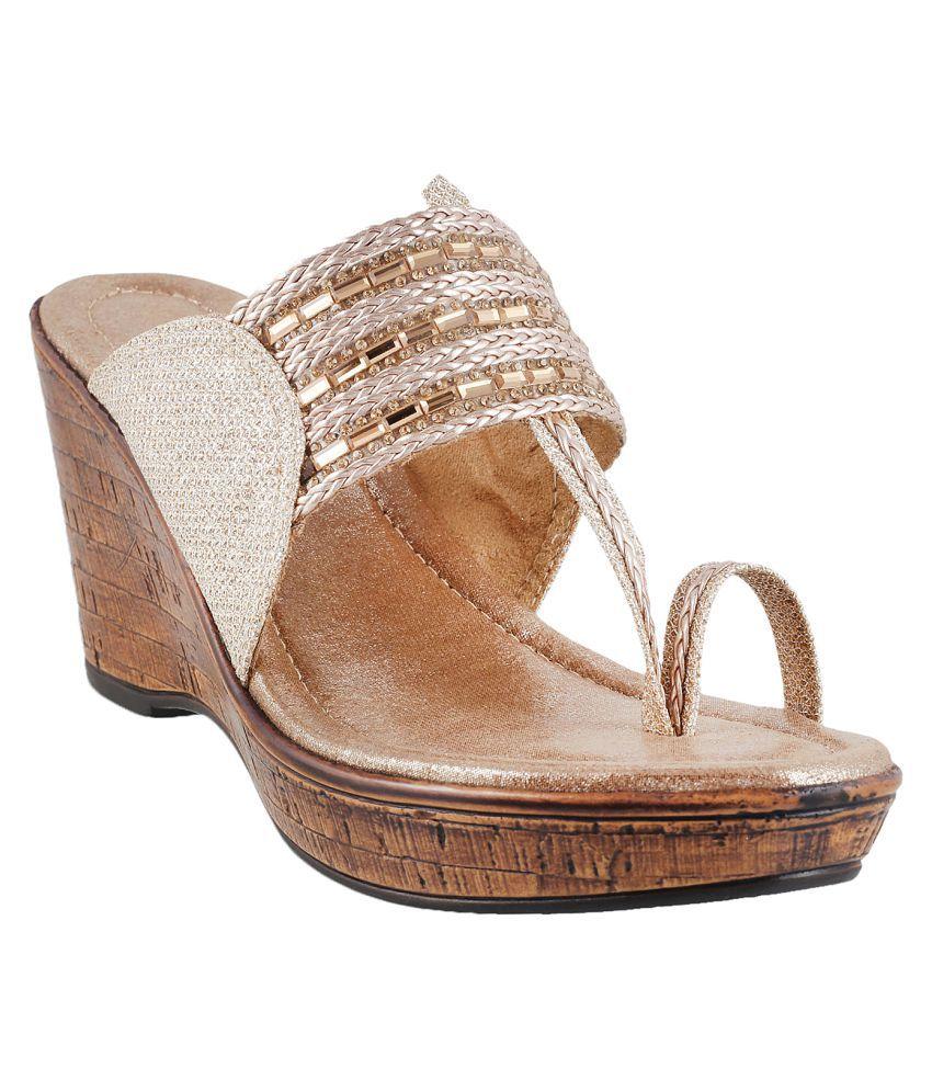METRO Beige Stiletto Ethnic Footwear