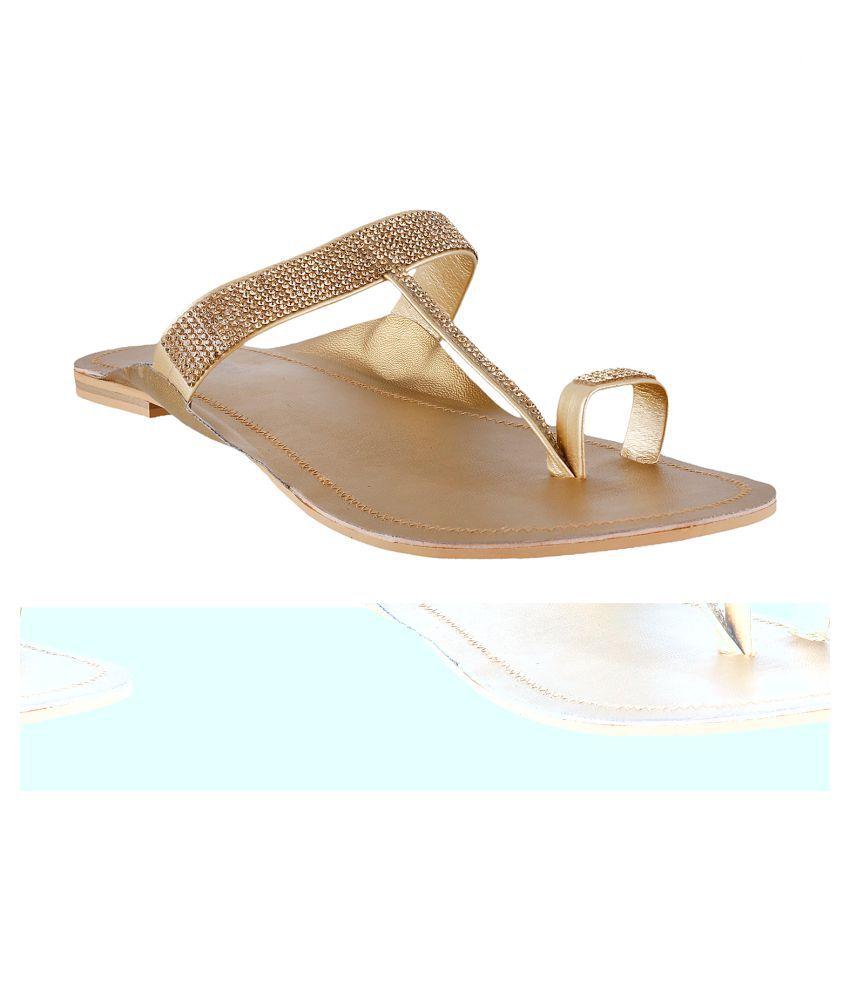 METRO GOLD Flat Ethnic Footwear