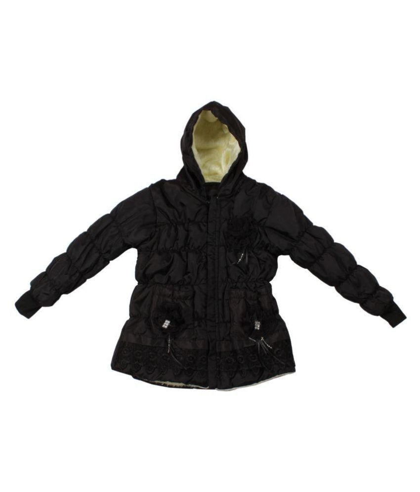 Greentree Black Wollen Winter Jacket