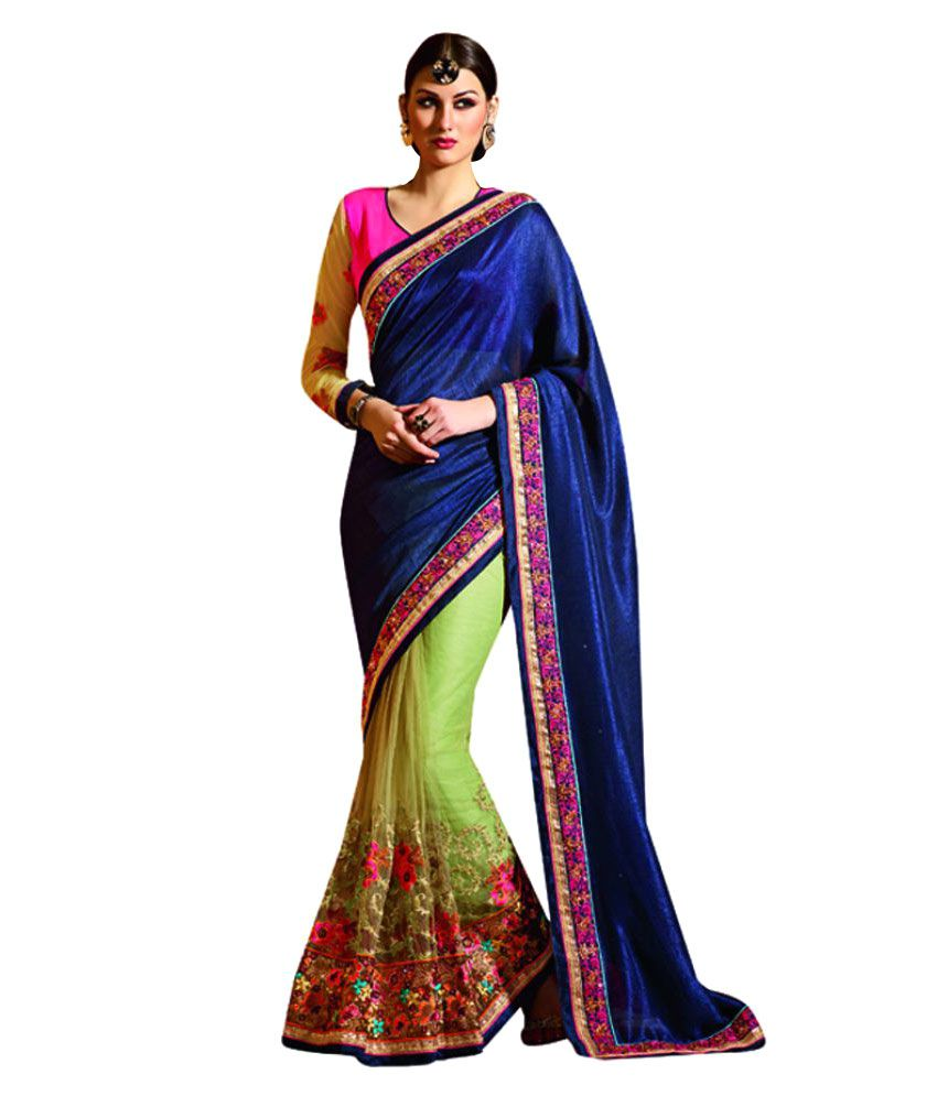 Manish Creation Multicoloured Net Saree