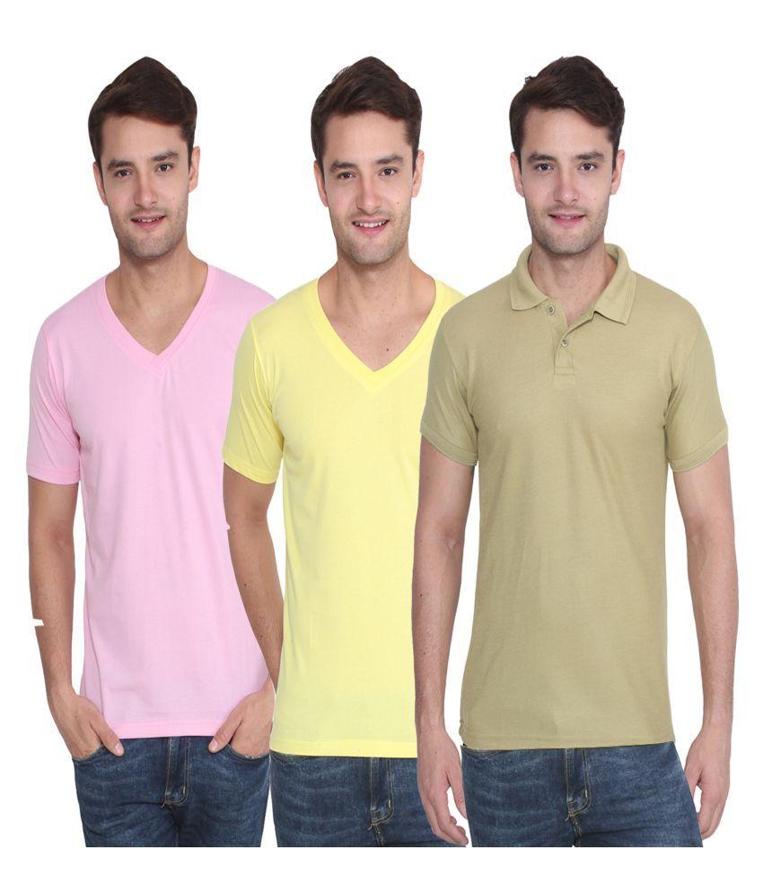 Attree Multi Round T-Shirt Pack Of 3