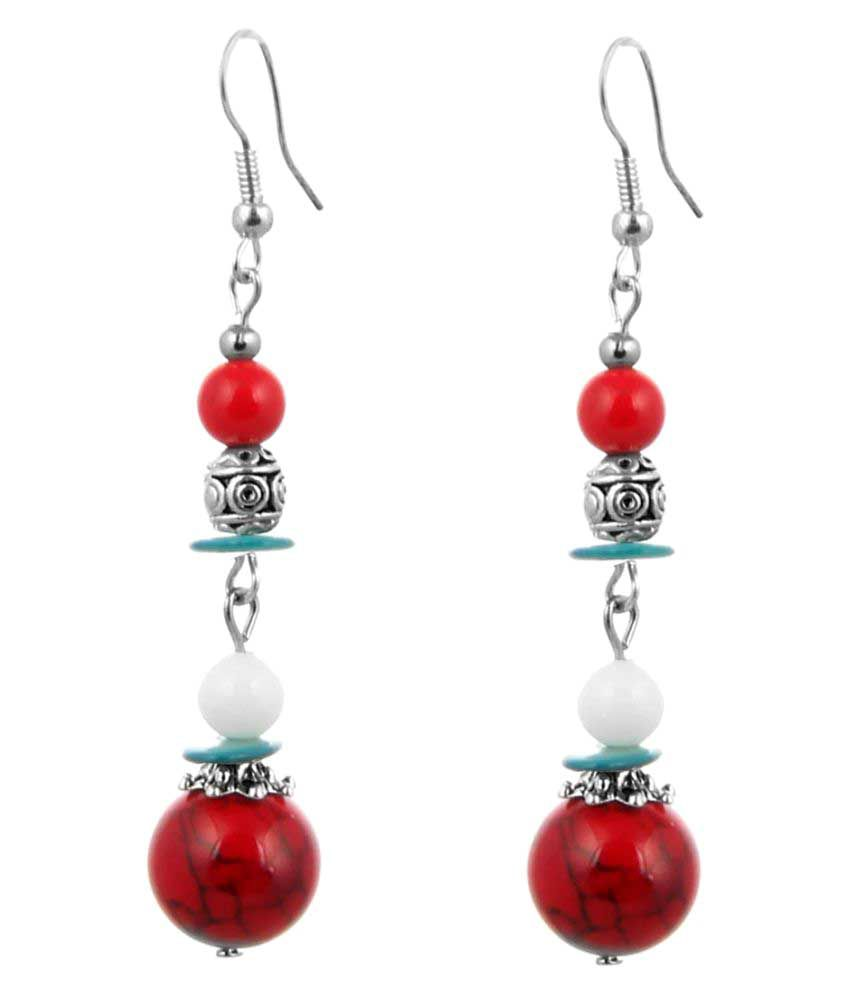 Jewelizer Multicolour Alloy Hanging Earrings