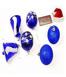 Ghasitaram Gifts Set Of 6 Christmas Decoration With Christmas Chocolate Bar