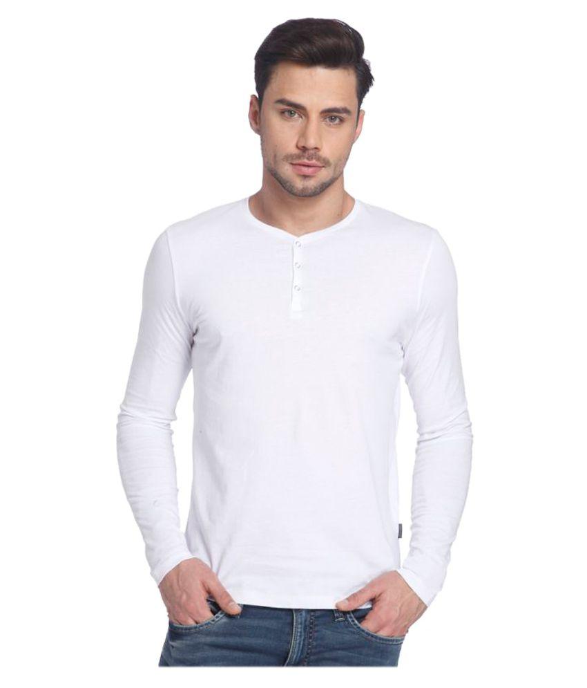 Jack & Jones White Round T-Shirt