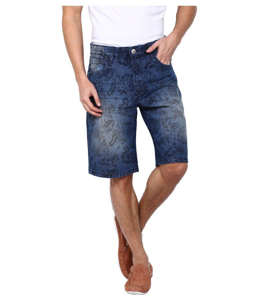 Flying Machine Blue Shorts