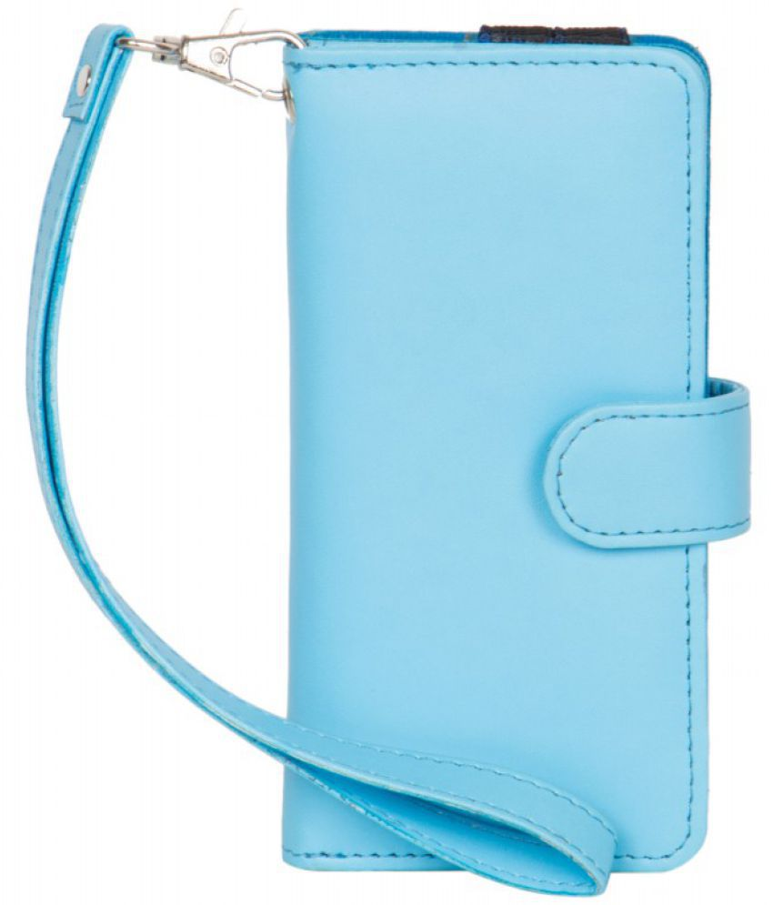 Intex Aqua T4 Holster Cover by Senzoni - Blue