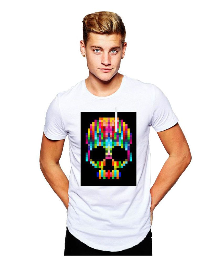 Origin Clothing White Round T-Shirt