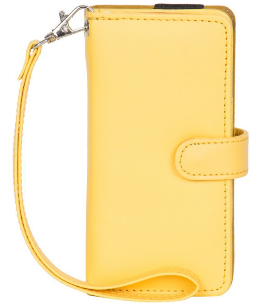 Micromax Canvas Magnus A117 Holster Cover by Senzoni - Yellow