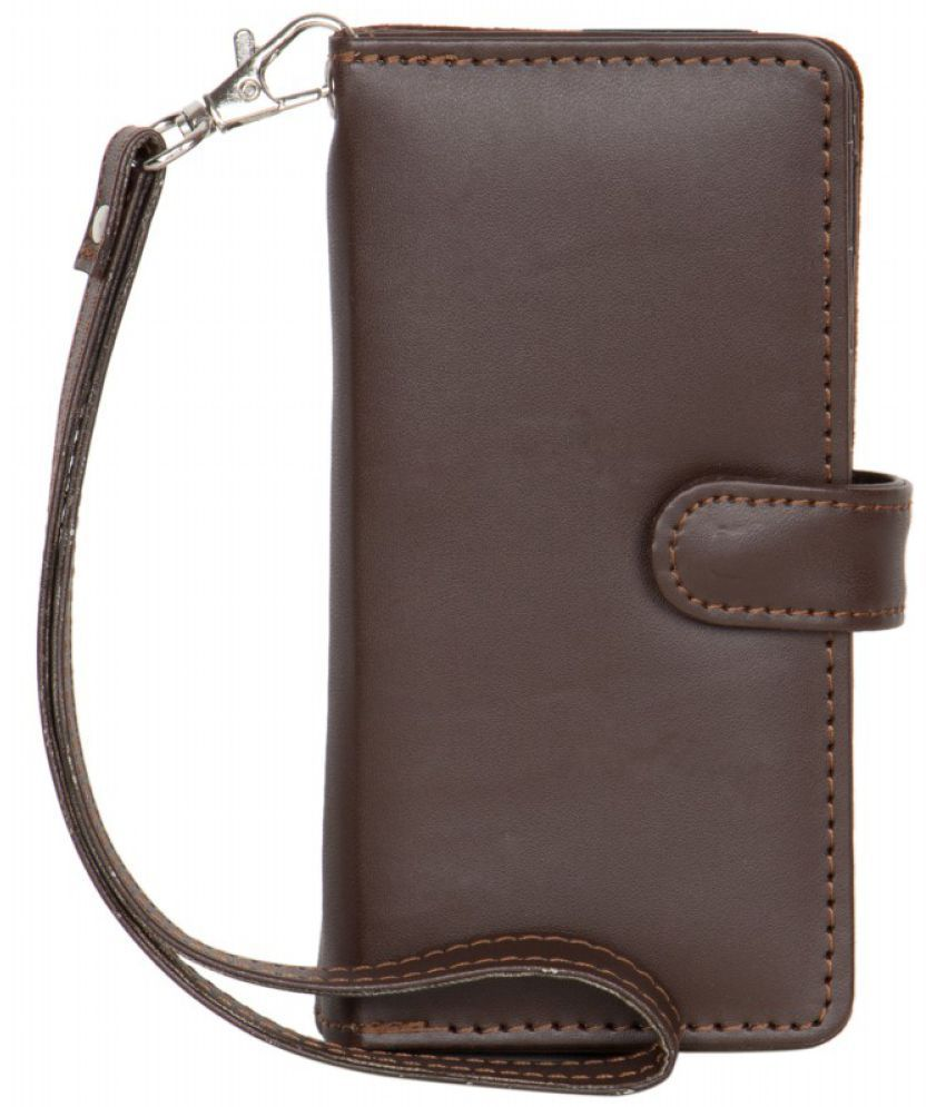 Micromax Canvas Turbo Mini A200 Holster Cover by Senzoni - Brown