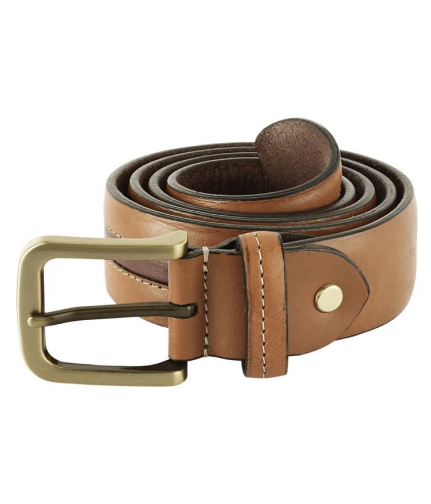 Parx Beige Leather Formal Belts