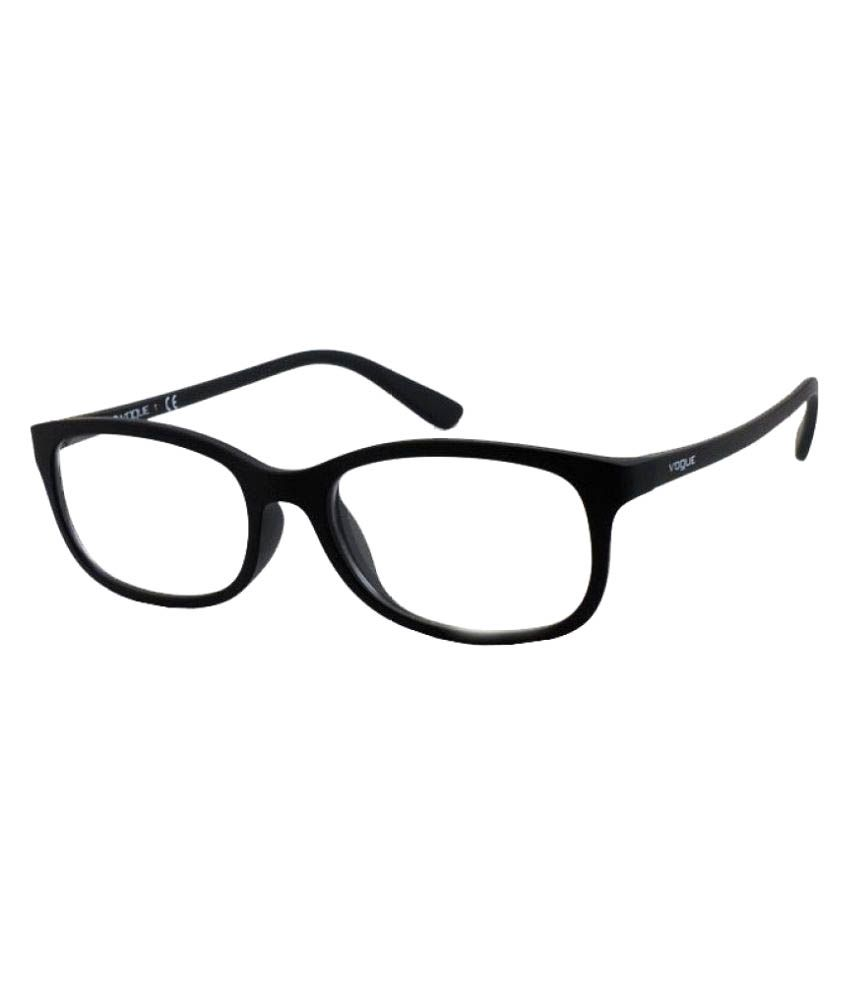 dddd9e3714d88 Vogue Black Rectangle Spectacle Frame VO-5005-W44 53 - Buy Vogue Black  Rectangle Spectacle Frame VO-5005-W44 53 Online at Low Price - Snapdeal