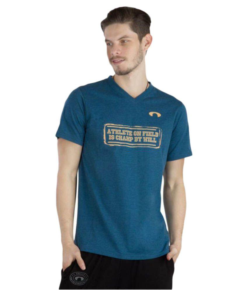 Arcley Blue Cotton Blend T-Shirt Single Pack