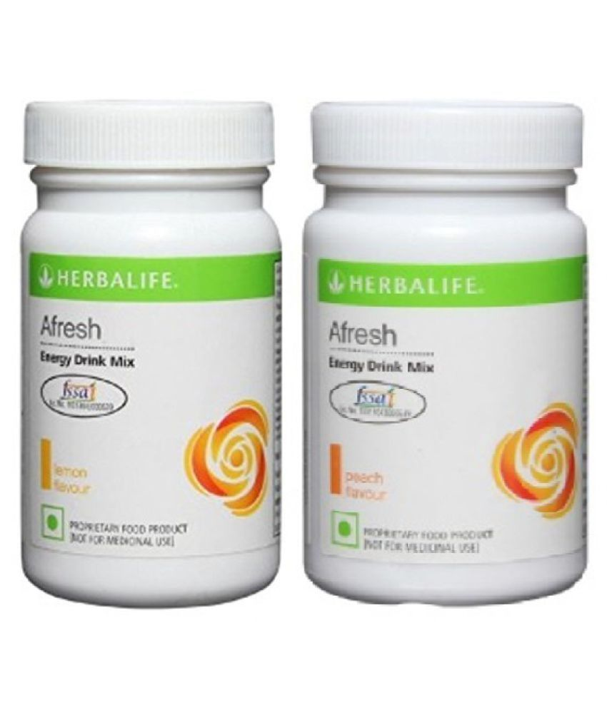 Herbalife Afresh Energy Drink Mix Lemon And Peach Flavour 50g Powder