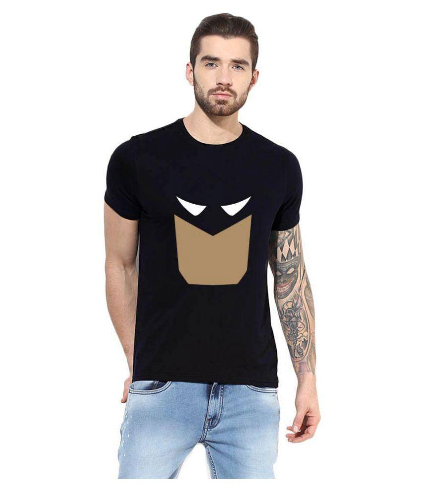 Gallop Black Round T-Shirt