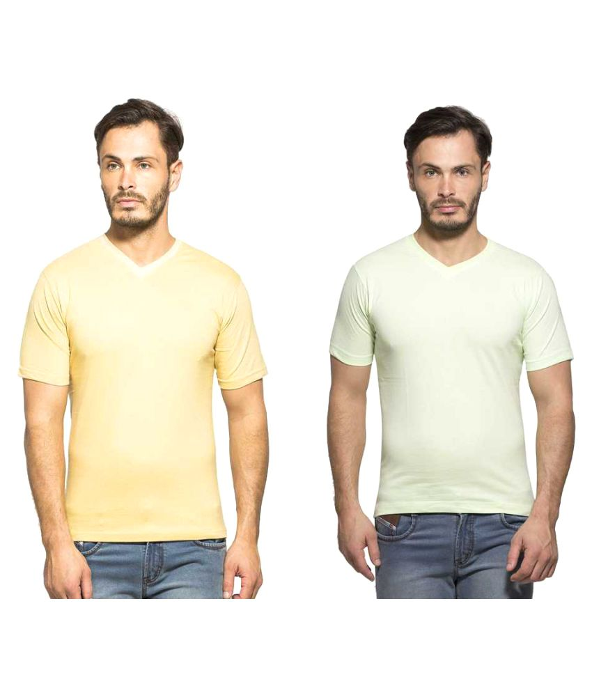 Clifton Multi V-Neck T-Shirt Pack of 2