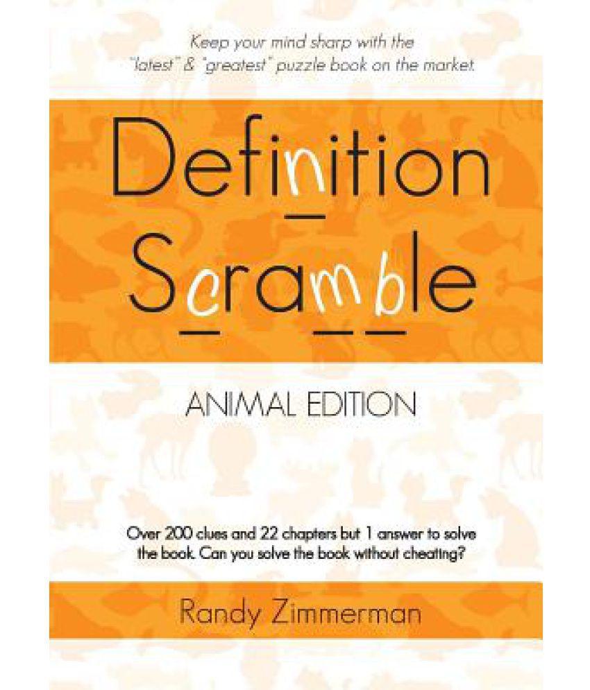 Definition Scramble Animal Edition