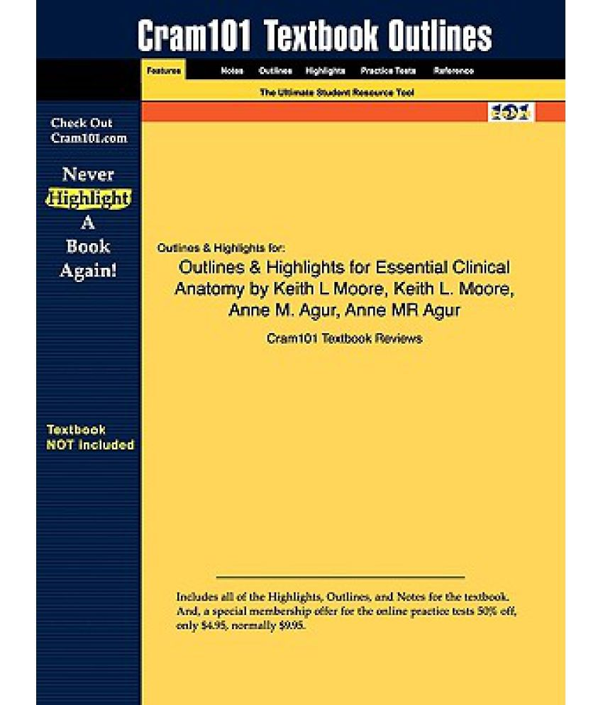 Outlines & Highlights for Essential Clinical Anatomy by Keith L ...