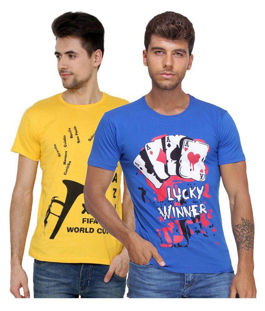 Grand Bear Multi Round T-Shirt Pack of 2