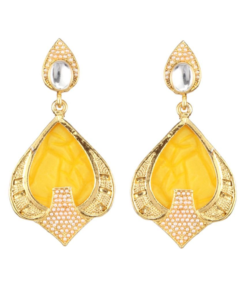 45685bca2 Kriaa by JewelMaze Gold Plated Hanging Earrings - Buy Kriaa by JewelMaze  Gold Plated Hanging Earrings Online at Best Prices in India on Snapdeal