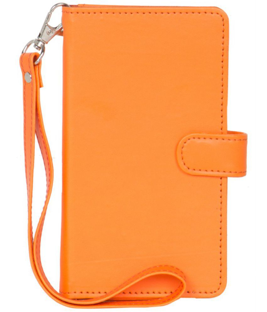 Karbonn Mobile K72+ Holster Cover by Senzoni - Orange