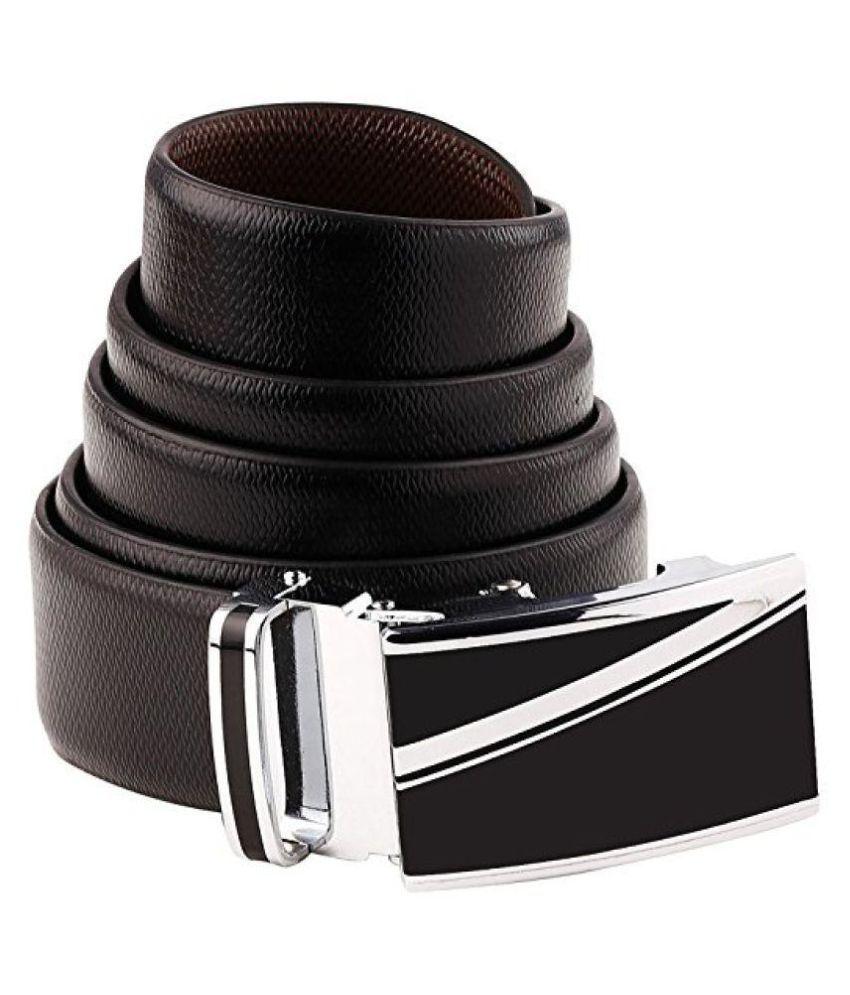 B&W Black Leather Formal Belts