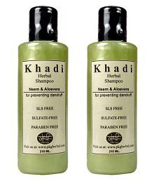Khadi Herbal Neem & Aloevera  SLS & Paraben Free Shampoo Ml Pack Of 2
