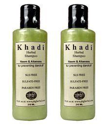 Khadi Herbal Neem & Aloevera  SLS & Paraben Free Shampoo Ml Pack Of 2