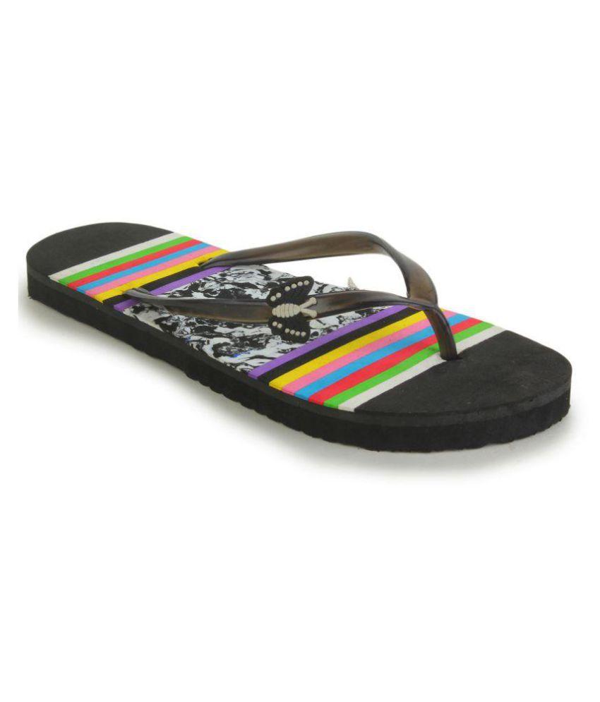 Fashion Victory Black Slippers