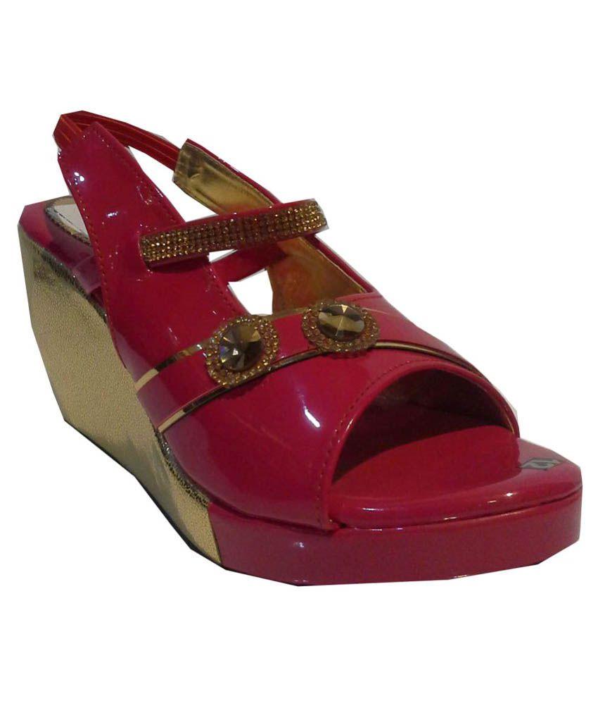 Queen Trends Pink Wedges Heels