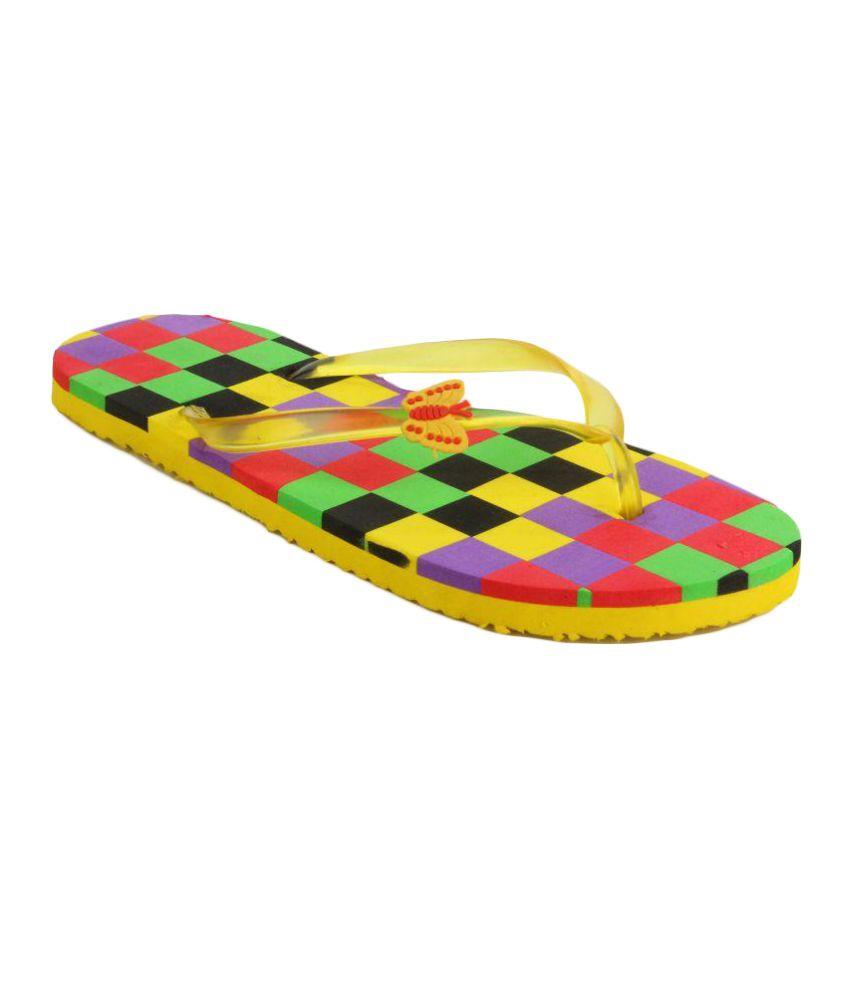Fashion Victory Yellow Flip Flops
