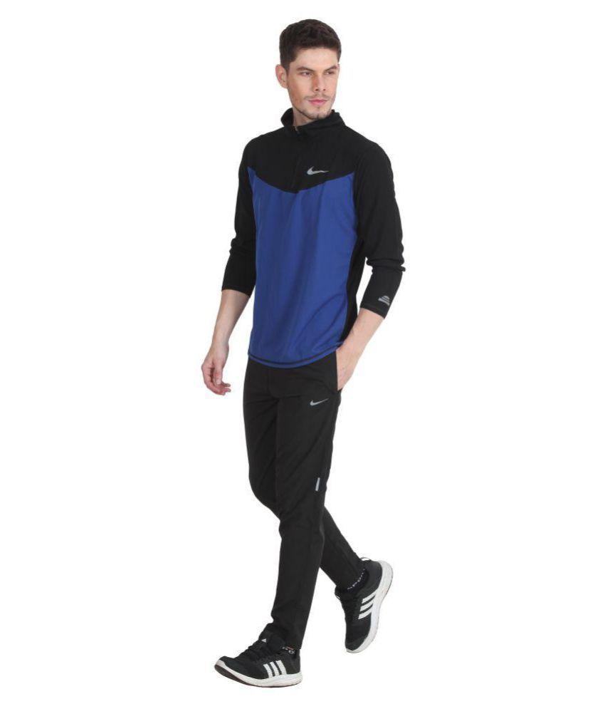 34af5f5faf Nike Black Polyester Lycra Trackpants