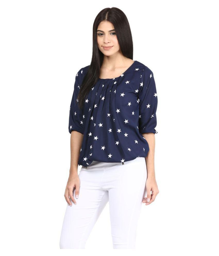 mayra poly crepe regular tops buy mayra poly crepe regular tops