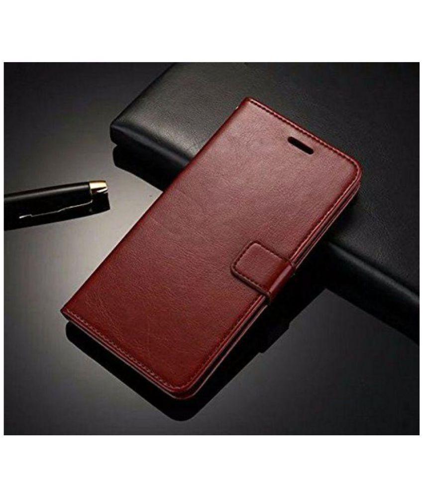 super popular 1de20 210a2 Oppo F1s Flip Cover by NKARTA - Brown