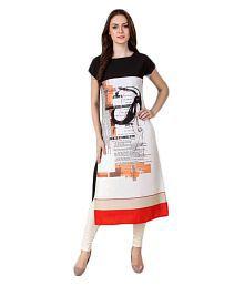 Hitansh Fashion Multicoloured Crepe Printed Semi Stitched Kurti