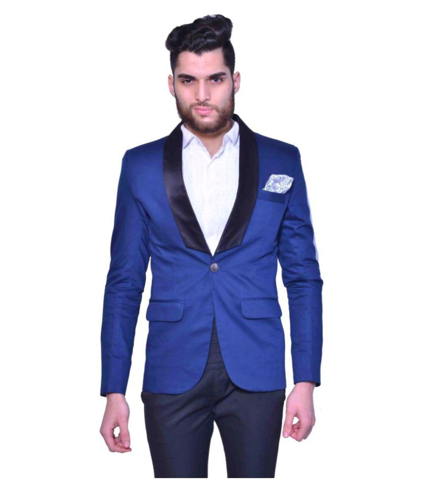 Manu Couture Blue Solid Party Tuxedo Pack of 3